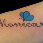 01-10-2013 Monica scritta con Farfalla