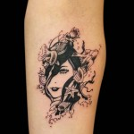 11-07-2014 Tattoo Volto con motivi Marini