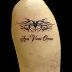 17-07-2014 Tattoo Scritta con Cuore Tribale