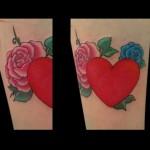 22-06-2015 Tattoo Cuore con Rose