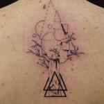 23-01-2015 Tattoo Albero Geometrico