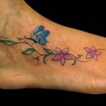 26-01-2015 Tattoo Floreale con Farfalla